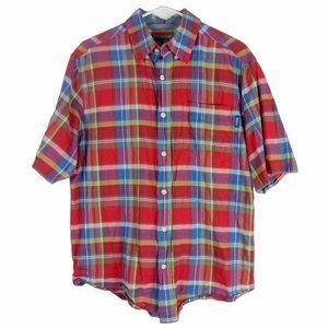 Woolrich Timberline Madras Plaid Shirt Mens Medium